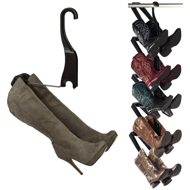 Boot Butler Boot Storage Rack & Shaper, 5-Pair Hanging Organizer