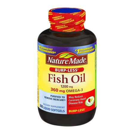 Nature made fish oil 1200mg dietary supplement liquid for Liquid fish oil walmart
