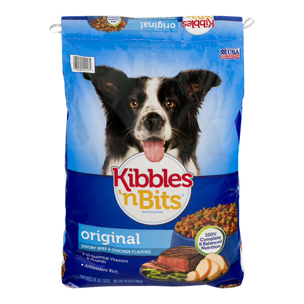 Kibbles 'n Bits Dog Food Savory Beef & Chicken Flavors Original, 16.0 LB by Big Heart Pet Brands