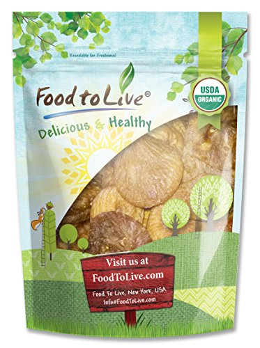 Food To Live Certified Organic Figs (4 Pounds) by