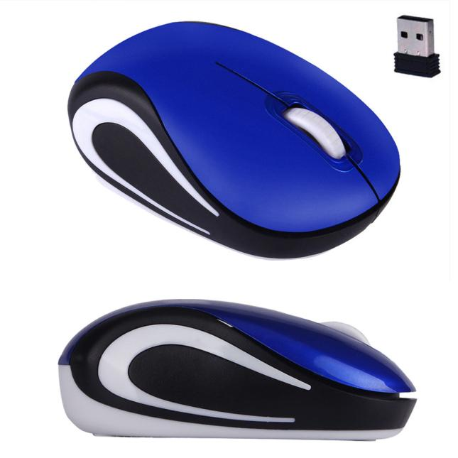 DZT1968 Cute Mini 2.4 GHz Wireless Optical Mouse Mice For PC Laptop Notebook