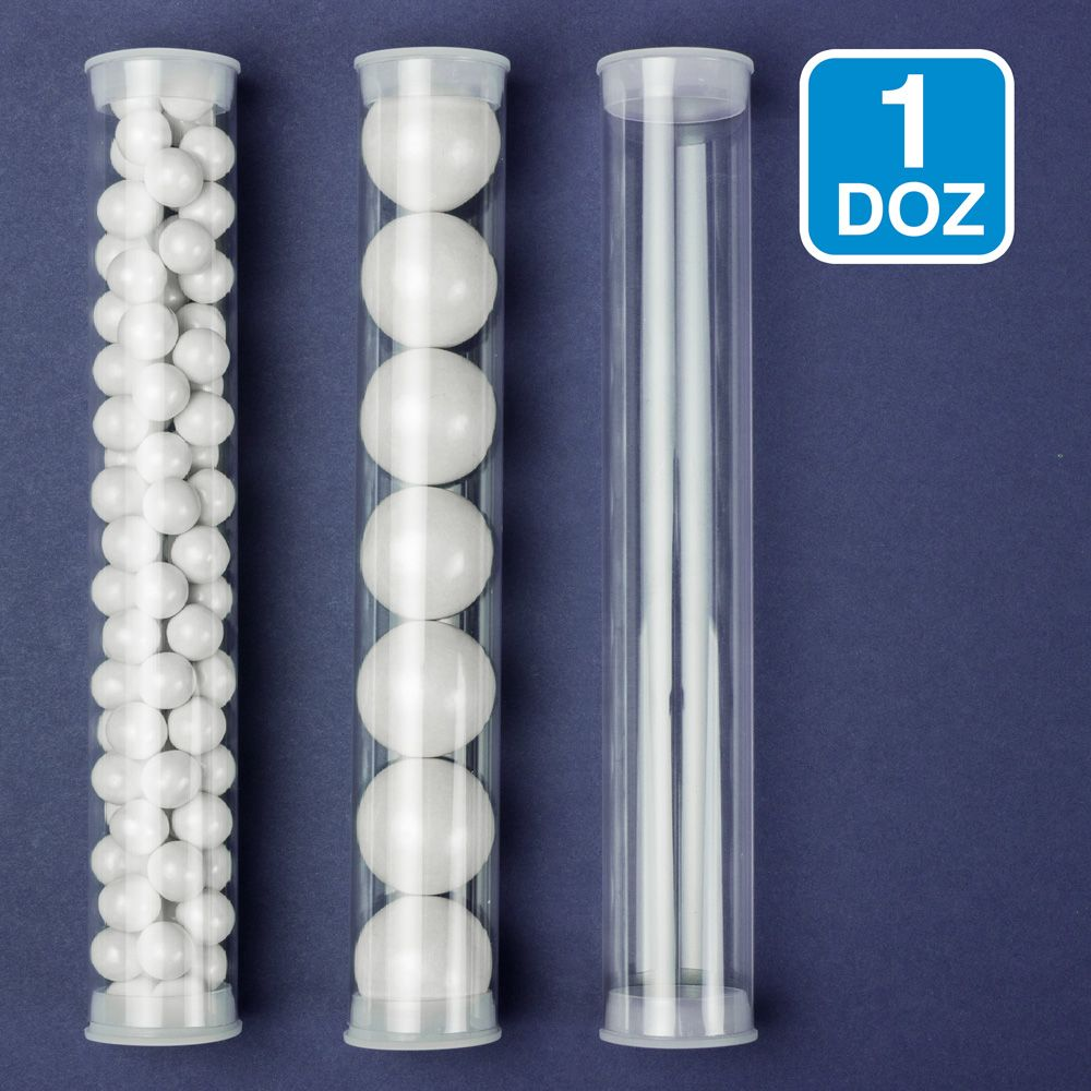 Clear Candy Tubes (12 Pack) - Party Supplies