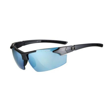 JET FC, MATTE GUNMETAL SINGLE LENS SUNGLASSES SMOKE BRIGHT BLUE (Tifosi Sport Sunglasses)