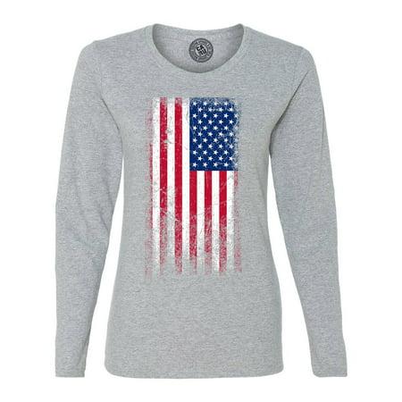 Red White Short (American Flag Red White Blue USA Womens Long Sleeve T)