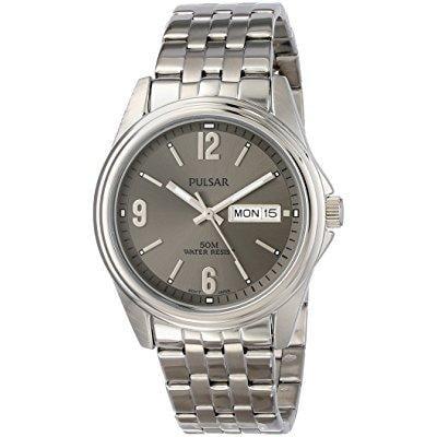 - pulsar men's pv3001 analog display japanese quartz silver watch