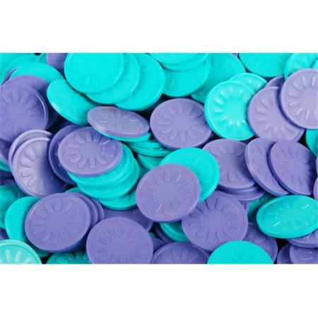 B-Token TOPLSTEM04 Embossed Tokens in Purple with Sun