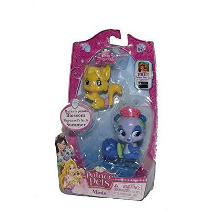 Disney Princess Palace Pets Minis - Mulan's Panda Blossom and Rapunzel's Kitty Summer - Place Pets