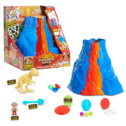Ryan's World Dino Universe Fizz N' Dig Volcano Surprise, 11 surprises inside, Novelty, Ages 3 Up, by Just Play