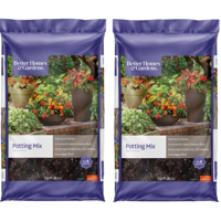 Better Homes & Gardens Potting Mix Planter Soil, 1 Cubic Foot (2 Pack)