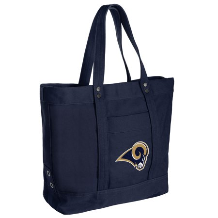 Los Angeles Rams Women's High End Canvas Tote - No Size Nfl Canvas Tailgate Tote
