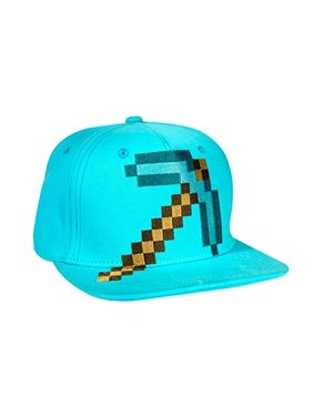 32da7ccec8a0f Product Image Baseball Cap - Minecraft - Diamond Pickaxe Blue Hat  Stretch-Fit j7223