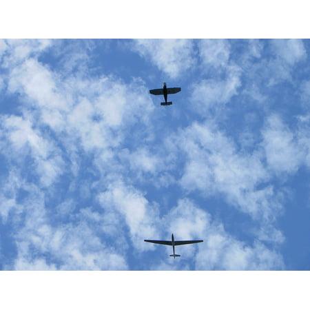 Canvas Print Sky Plane Glider Freedom Stretched Canvas 10 x