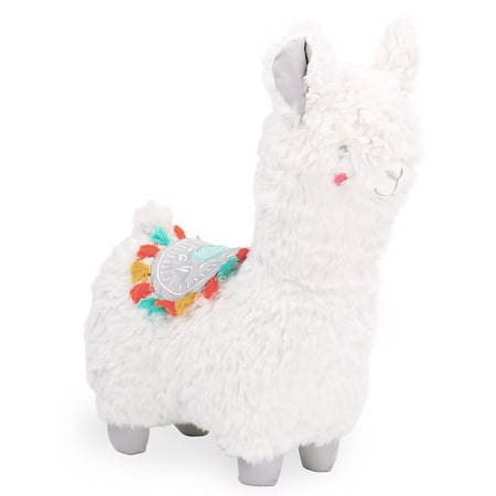 The Peanut Shell Little Llama White and Grey Plush Toy Animal