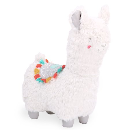 The Peanut Shell Little Llama White and Grey Plush Toy Animal