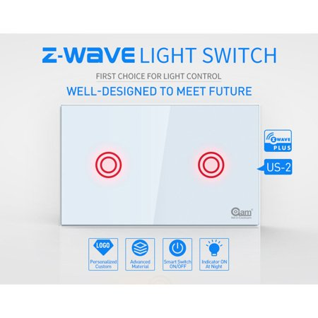Ustyle NEO COOLCAM Z-wave Wifi Wall Light Switch 2 Gang Wireless Smart Remote Control US - image 6 de 9