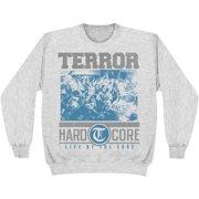Terror Men's  Hardcore Ash Grey Sweatshirt Grey