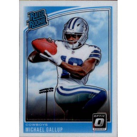 2018 Donruss Optic #174 Michael Gallup Dallas Cowboys Rookie Football (Great Wall Of Dallas A Football Life)