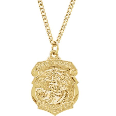 Bella Grace Jewelry Collection 24K Gold Plated 28.6x20.87mm St. Michael 24