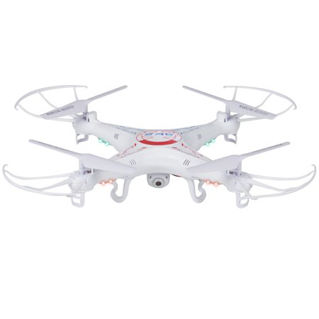 Rc 6 Axis Quadcopter Flying Drone Toy With Gyro And Hd Camera Remote Control Led Lights
