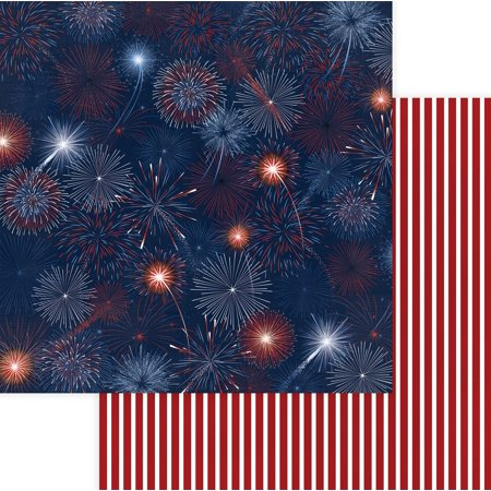 """Land Of The Free Double-Sided Cardstock 12""""X12""""-Red, White & Blue - image 1 of 1"""