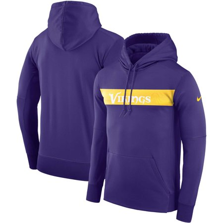 Minnesota Vikings Nike Sideline Team Performance Pullover Hoodie - Purple