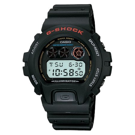 Casio Mens G Shock Stainless Steel Digital Watch  Black Resin Strap