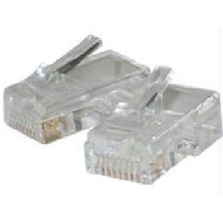 C2g (cables To Go) Rj45 Cat 5 8x8 Modular Plug For Flat Stranded Cable 10-pk - Color:  Clear - image 1 of 1