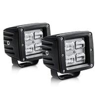 "3"" LED Pods Light Bar 9D 40W 4000LM Flood Off Road Fog Driving Lights Waterproof for Trucks Tractors Boats, 2 Year Warranty"