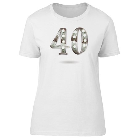 Silver 40Th Anniversary Tee Women's -Image by Shutterstock