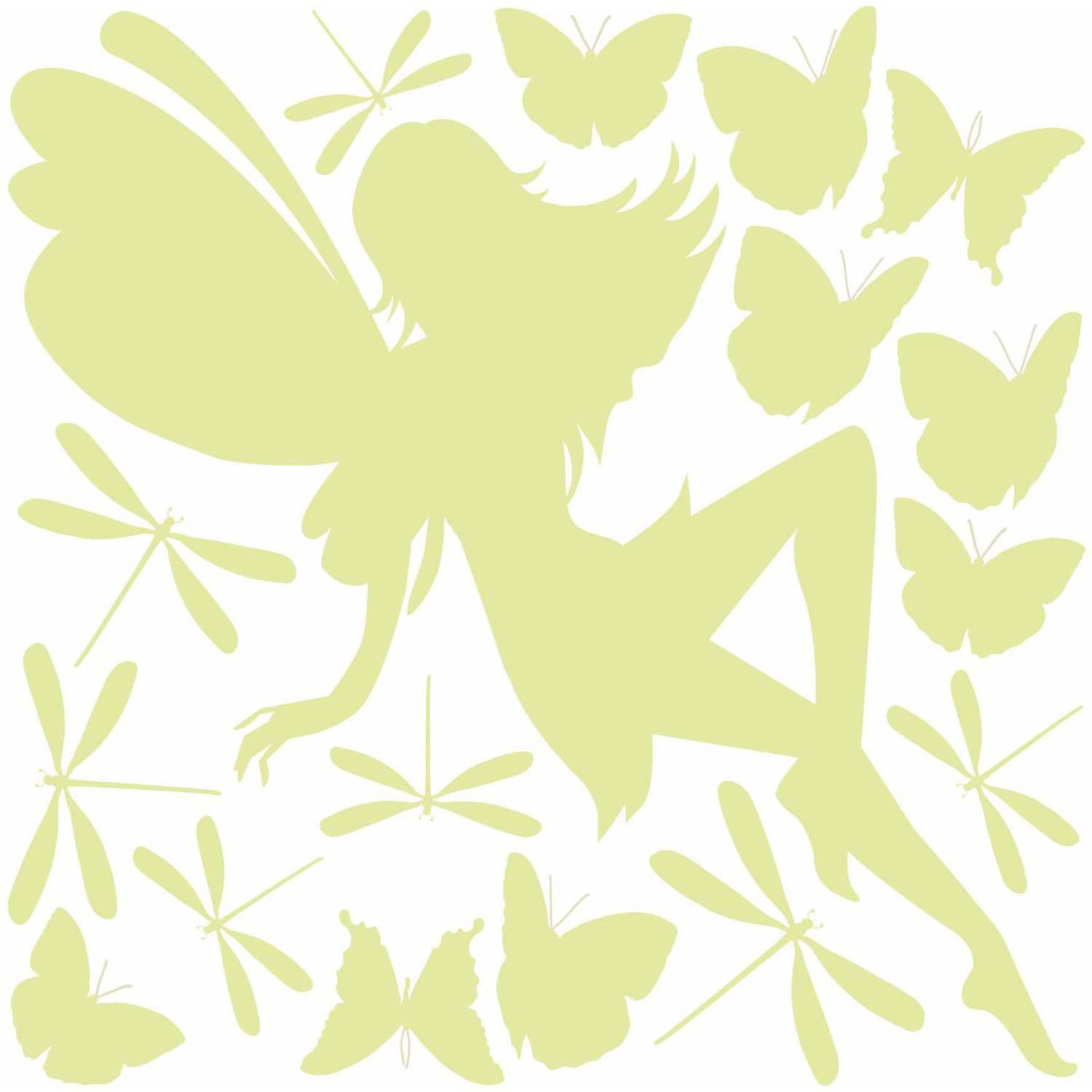 Home Decor Line Fairy Glow In The Dark Wall Decals