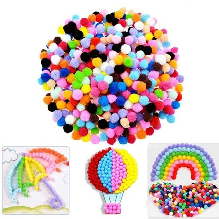 Outtop Caydo 100 Pieces 1 Inch Pom Poms for Hobby Supplies and DIY Creative Crafts
