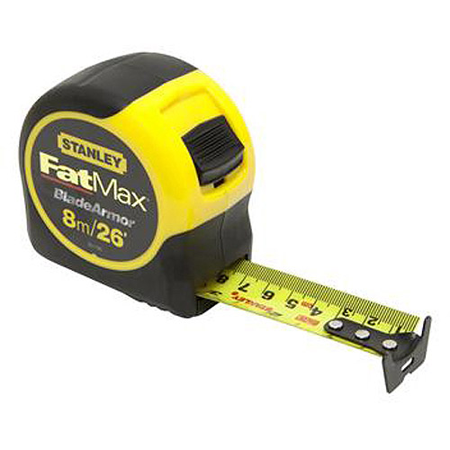 "Stanley Fatmax Tape Rule with Bladearmor Coating, 1.25"" x 8m, 33-726"