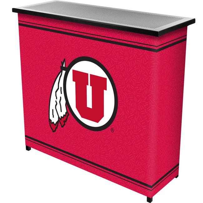 Trademark Poker CLC8000-UTAH University of UtahT 2 Shelf Portable Bar with Case