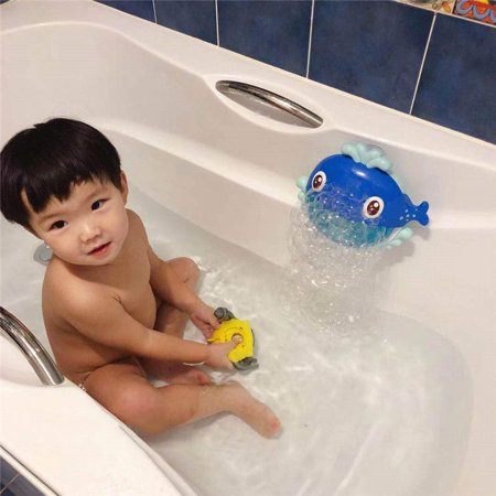 Jeobest Automatic Bubble Maker for Kids - Whale Bubble Blower Machine - Baby Bath Toy - Baby Bathtub Toy Cartoon Whale Bubble Maker Blowing Bubbles Toy Bath Shower Kids Fun Toy Gift MZ