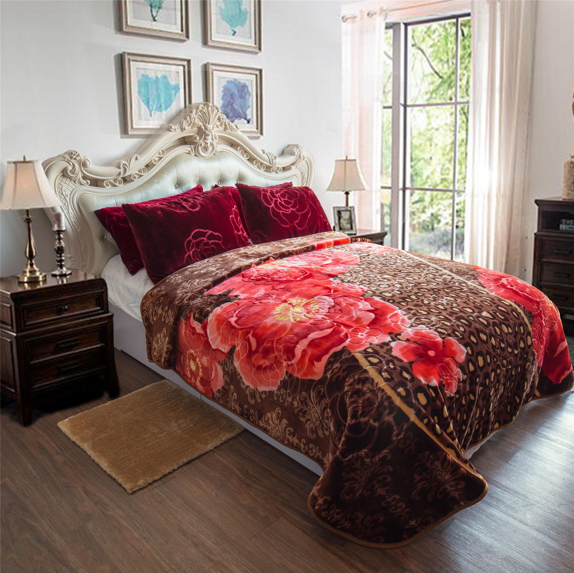 All Seasons Heavy Thick Super Cozy Plush Mink Blanket Winter Warm Soft Fleece Blanket For... by JML