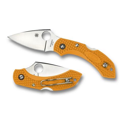 Spyderco Dragonfly 2 Lightweight Orange FRN PlainEdge Folding Knife