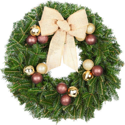 Real christmas trees delivered 24 fir wreath walmart com