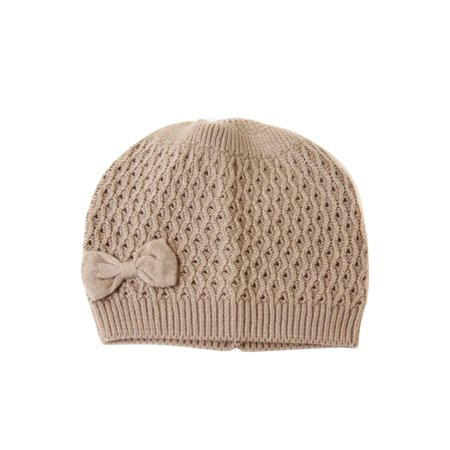 Fashion Knit Beanie With Bow Attached (4 in one pack, Comes in 4 colors) - image 2 of 2