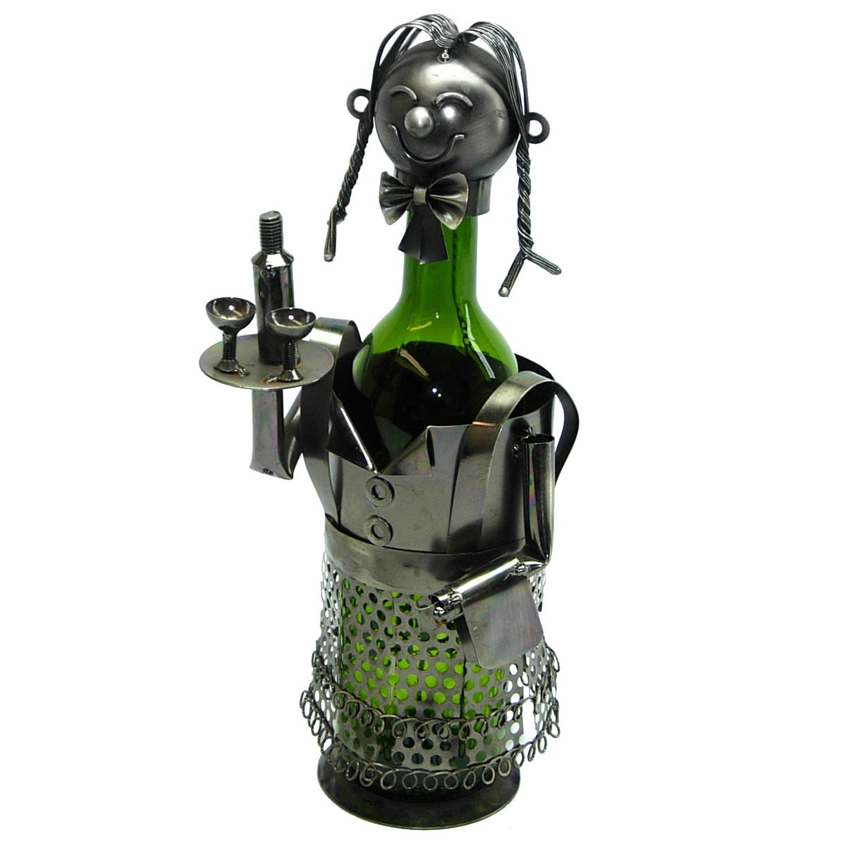 3starimex Wine Bottle Holder Lady Waitress Wine Caddy