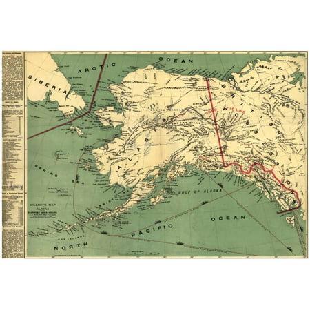 Alaska - Panoramic State Map Poster - 19x13