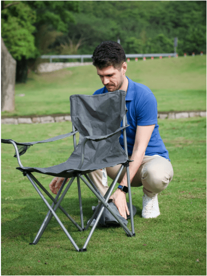 Ozark Trail Quad Folding Camp Chair 2 Pack,with Mesh Cup Holder - Walmart.com