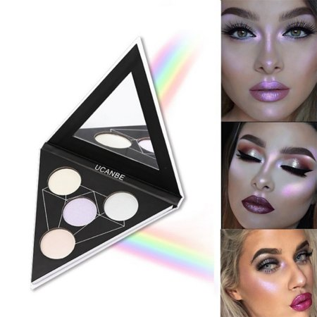 OUMY Glitter Holographic Shade Eye Lip Face Makeup Eyeshadow Palette for $<!---->