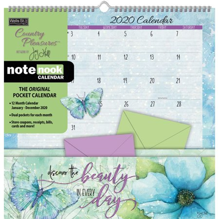 Calendars Country Pleasures Pocket Wall Calendar High Quality Paper - All Major & Significant Holidays