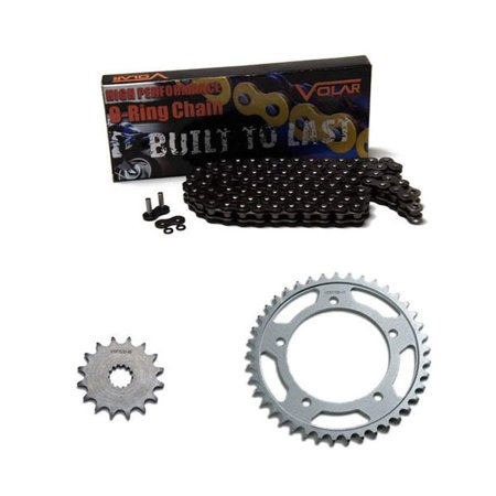 Volar O-Ring Chain and Sprocket Kit - Black for 2004-2013 Yamaha YFZ450 O-ring Chain Sprocket