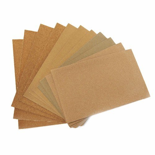 "Wideskall® 24 Sheets Assorted 100 - 240 Grits Sandpaper Sanding Paper 9"" x 11"" inch Assortment LOT"