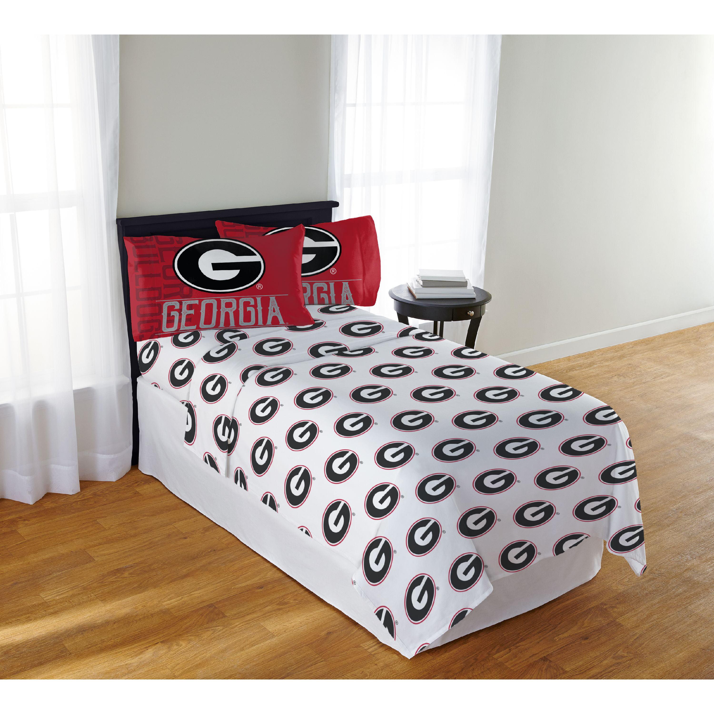 NCAA Georgia Bulldogs Affiliation Queen Sheet Set, 1 Each