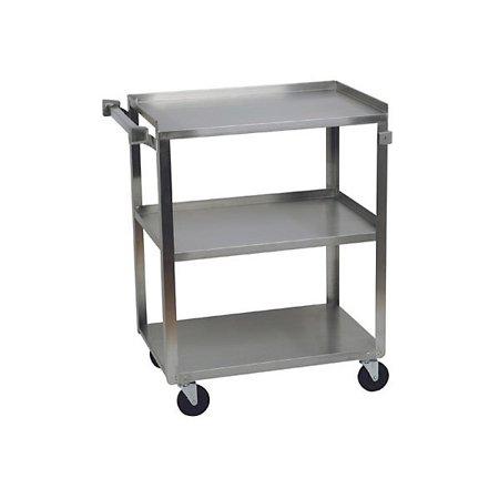 Stainless Steel 3 Shelf Utility Cart - 300 lb Capacity
