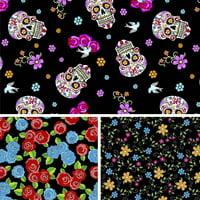 David Textiles Cotton Fabric Mexican Heritage 1 Yd x 44 inches precut