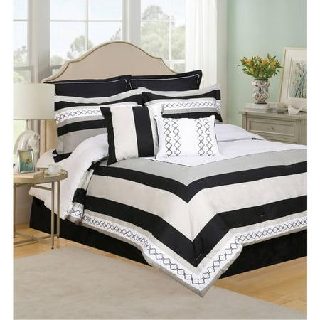 Henrik 8 Piece Bedding Comforter Set Queen Walmart Com