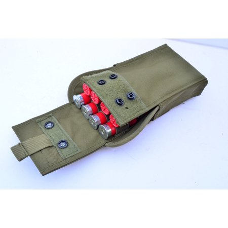 16 Round Shotgun shell cartridge Ammo Carrier Attachment MOLLE Pouch OD GREEN thumbnail